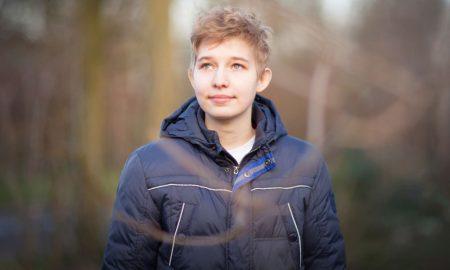 Portrait of transgender boy
