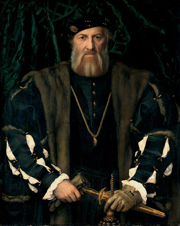 A highly virile Hans Holbein sitter.