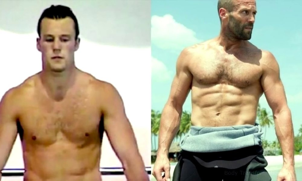 Jason Statham Shows Skin in Throwback Video