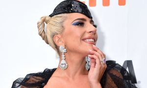 Lady Gaga attends the 'A Star Is Born' premiere
