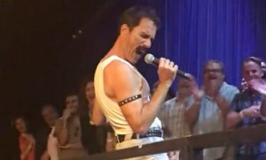 Eric McCormack Channels Freddie Mercury for Epic Performance