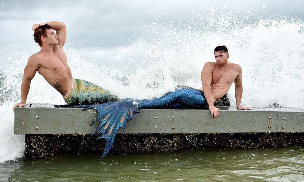This is a photo of two mermen