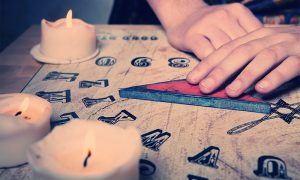 Ouija Board By Candle