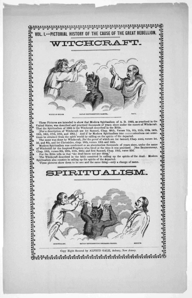 From the start, Christians tried to equate Spiritualism with witchcraft.