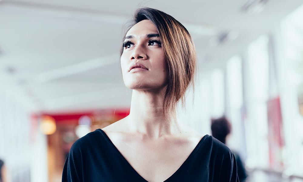 A portrait of a transgender woman