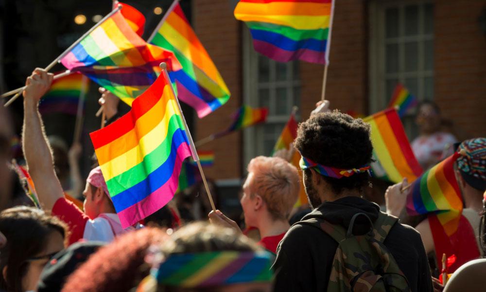 Large LGBT Crowd