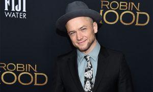 Actor Taron Egerton attends premiere