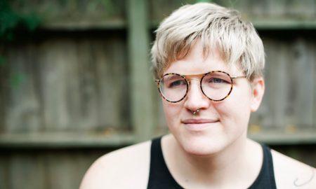 Close-up of trans man