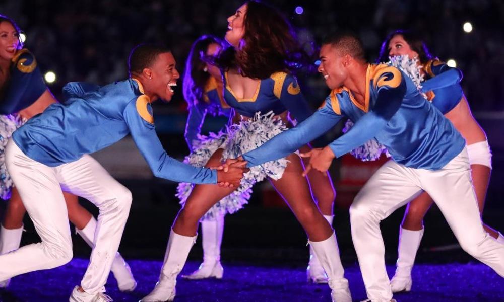 Cheerleaders Quinton Peron and Napoleon Jinnies
