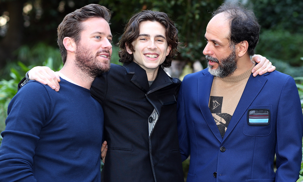 Actors Timothee Chalamet, Armie Hammer and Italian Director Luca Guadagnino