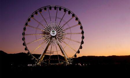 The ferris wheel is seen during the 2018 Coachella