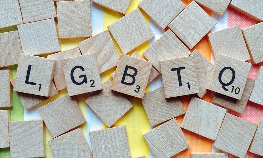 LGBTQ in Scrabble letters