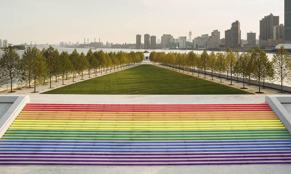 Four Freedoms Park Rainbow Steps