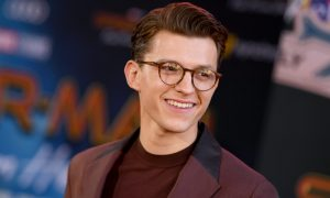 Tom Holland on the red carpet at 'Spider-Man Far From Home'