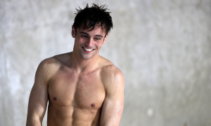 Tom Daley Synchro partner of Grace Reid of Great Britain