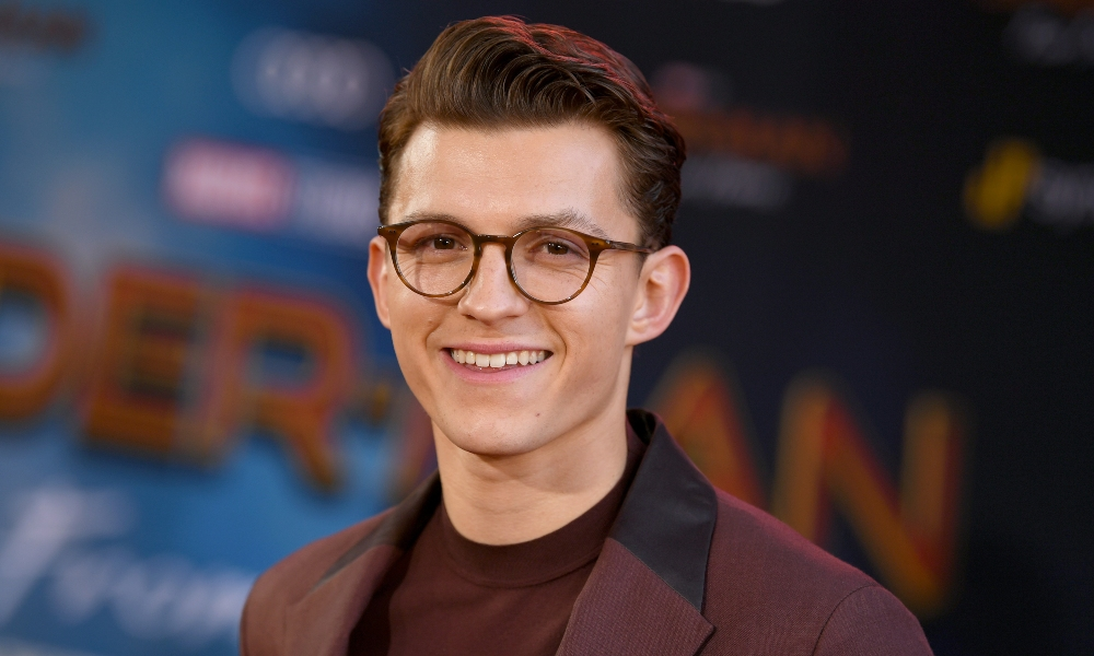 "Tom Holland attends the premiere of Sony Pictures' ""Spider-Man Far From Home"" at TCL Chinese Theatre on June 26, 2019 in Hollywood, California. (Photo by Kevin Winter/Getty Images)"