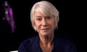 This is a photo of Helen Mirren from her Masterclass