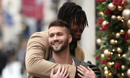 NFL Player Ryan Russell and Boyfriend Share PDA In London