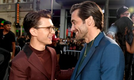 Jake Gyllenhaal and Tom Holland Cuddle In Bromantic Photo