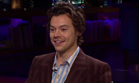 Harry Styles Swallows for Kendall Jenner on 'The Late Late Show'