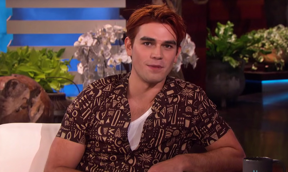 KJ Apa Flashed His Derrière for Ellen DeGeneres
