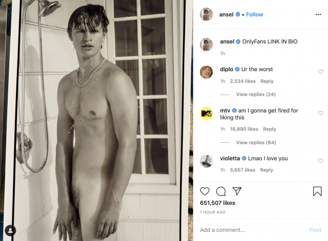 Ansel Elgort Naked Only Fans