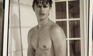 Ansel Elgort Bares His Bush for Charity