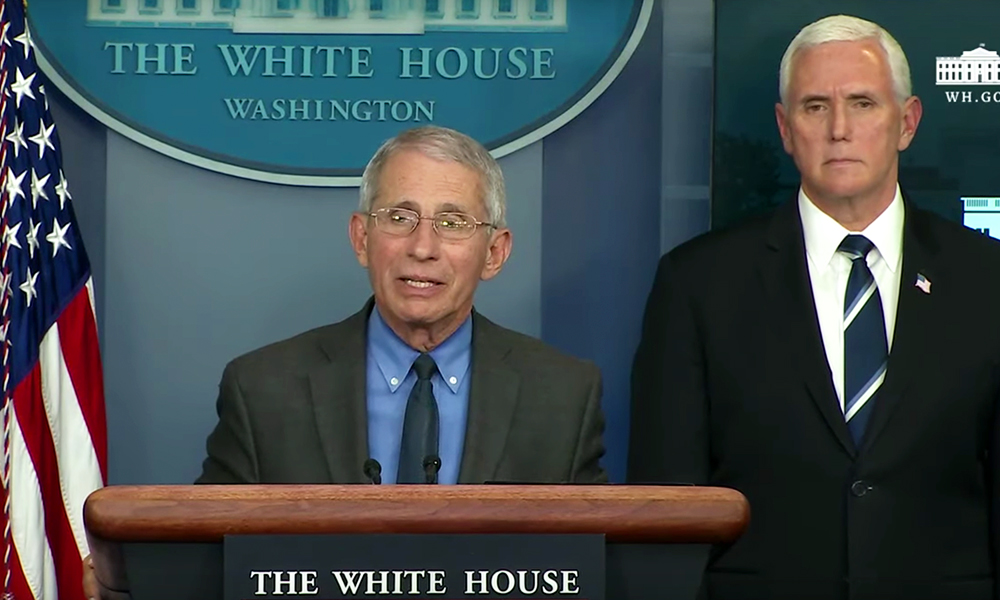 Mike Pence Looks on as Anthony Fauci Acknowledges the 'Extraordinary Stigma' Gays Faced