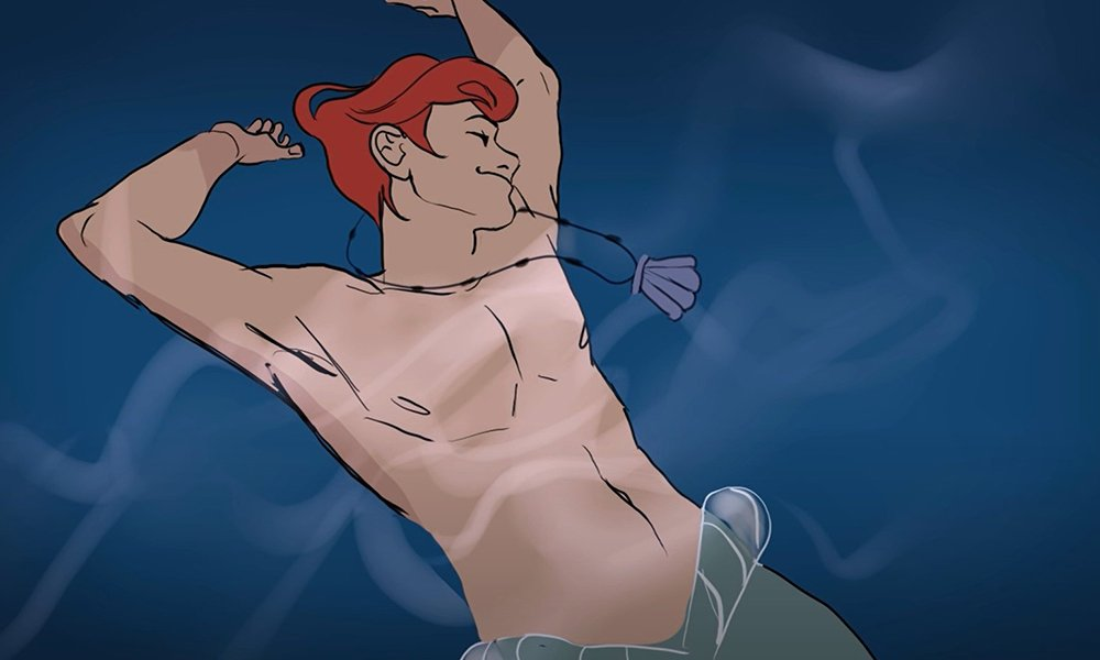 Male Ariel from The Little Mermaid