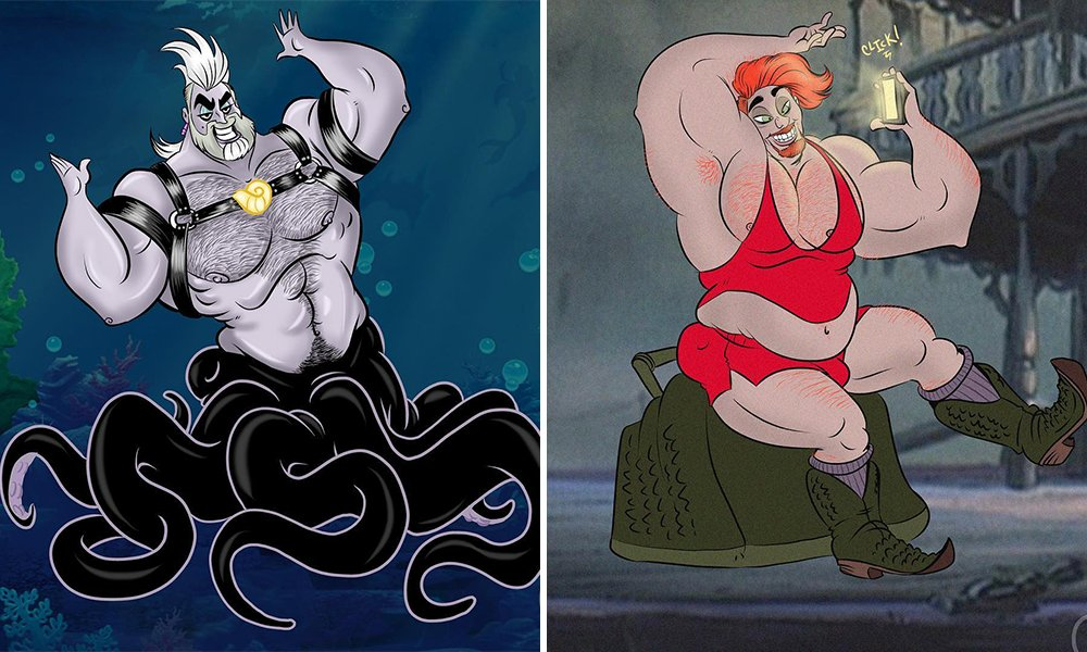 8 Disney Villains Reimagined as Gay Beefcake Daddies